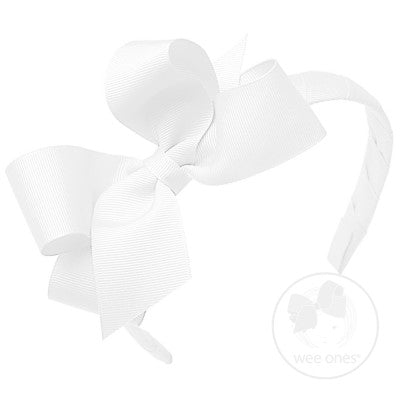GROSGRAIN BOW ON HEADBAND - Made by McNamara