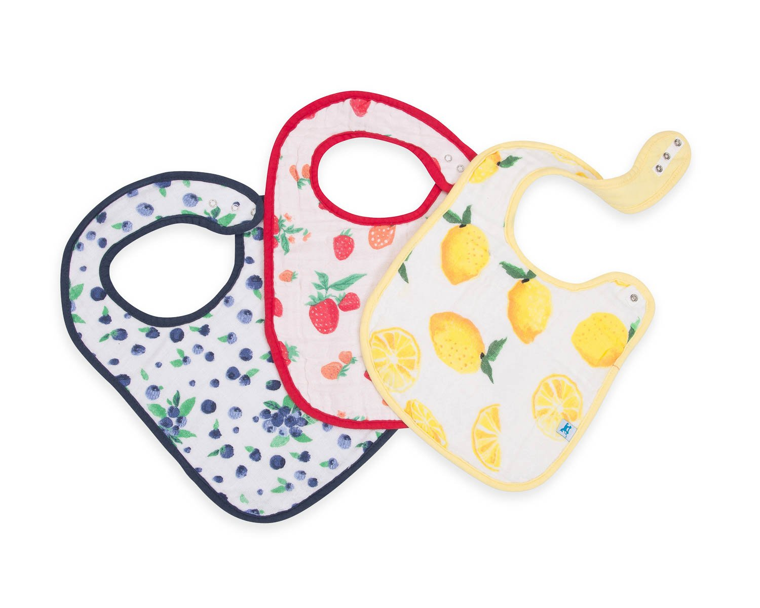 COTTON MUSLIN CLASSIC BIB SET - BERRY LEMONADE - Made by McNamara