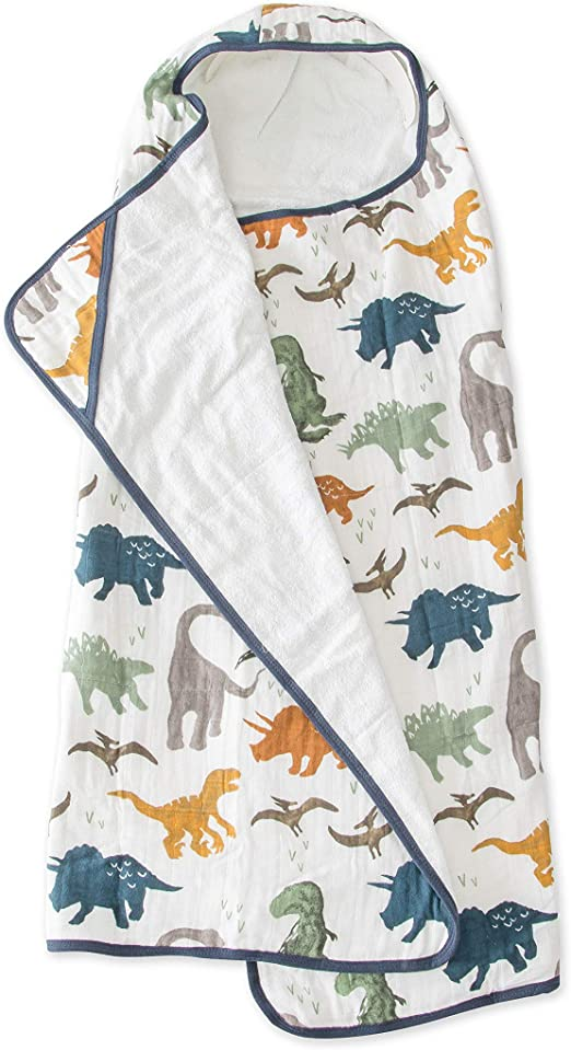 BIG KID HOODED TOWEL - DINO FRIENDS - Made by McNamara