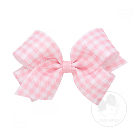 LARGE GINGHAM BOW - PINK - Made by McNamara
