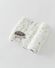 DELUXE MUSLIN SWADDLE - HEDGEHOG - Made by McNamara