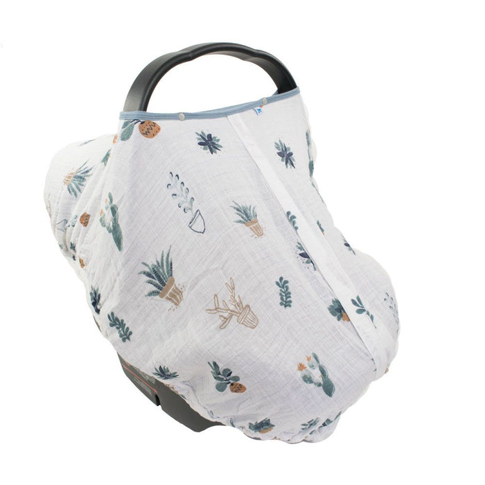 COTTON MUSLIN CAR SEAT CANOPY - PRICKLE POTS - Made by McNamara