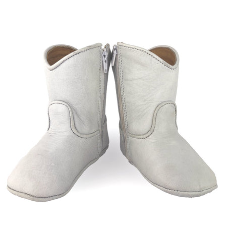 BEE COWBOY BOOTS - WHITE - Made by McNamara