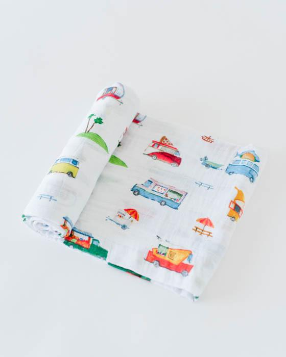 COTTON MUSLIN SWADDLE - FOOD TRUCK - Made by McNamara