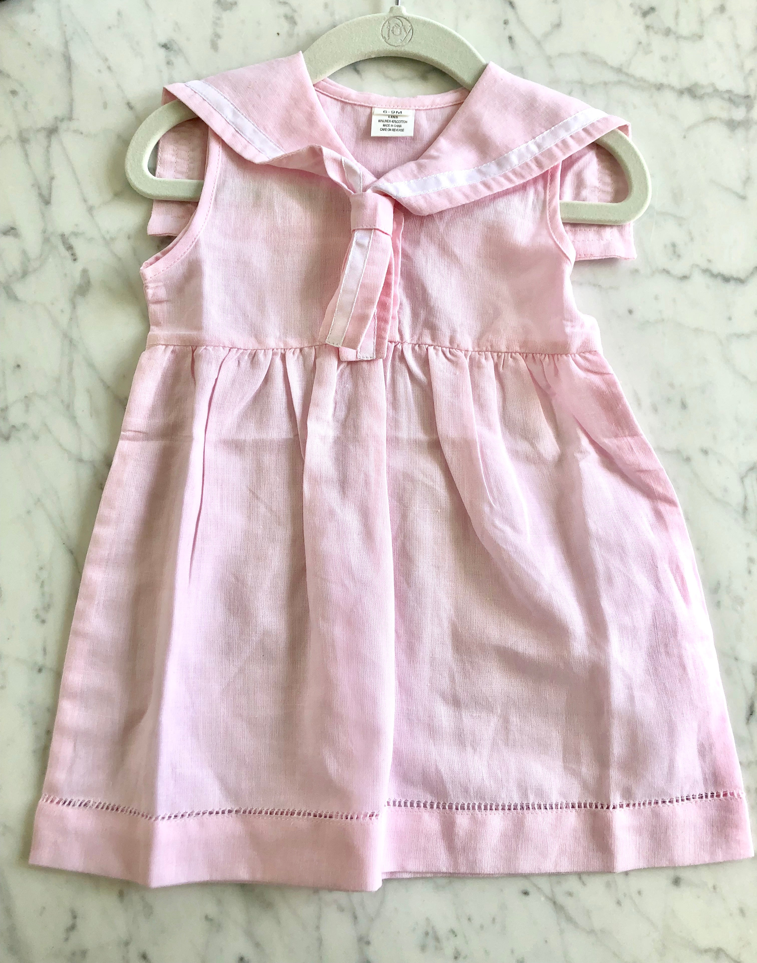 LINEN SAILOR DRESS - PINK - Made by McNamara