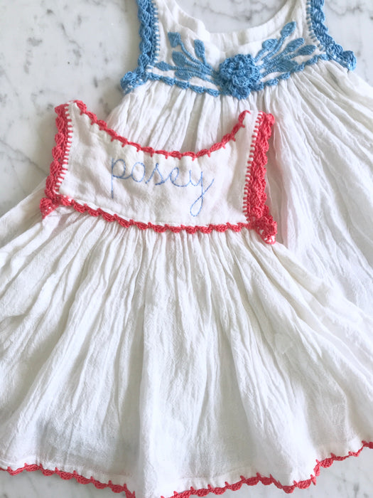 MEXICAN CROCHET DRESSES - BLUE - Made by McNamara