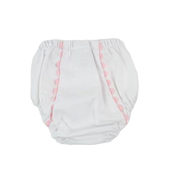 DIAPER COVER WITH RIC RAC - PINK - Made by McNamara