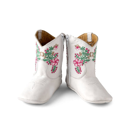 JULIET COWGIRL BOOTS - WHITE - Made by McNamara
