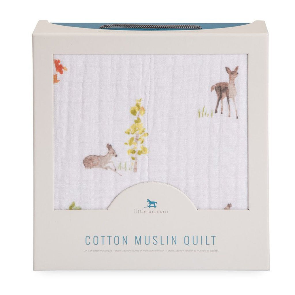 COTTON MUSLIN QUILT - OH DEER - Made by McNamara