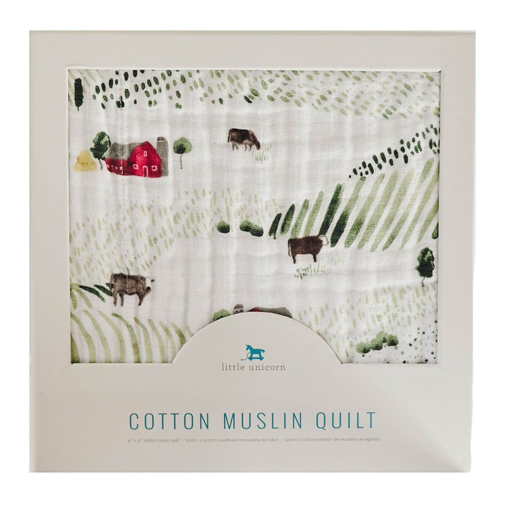COTTON MUSLIN QUILT - ROLLING HILLS - Made by McNamara