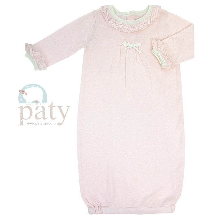 KNIT GOWN - PINK