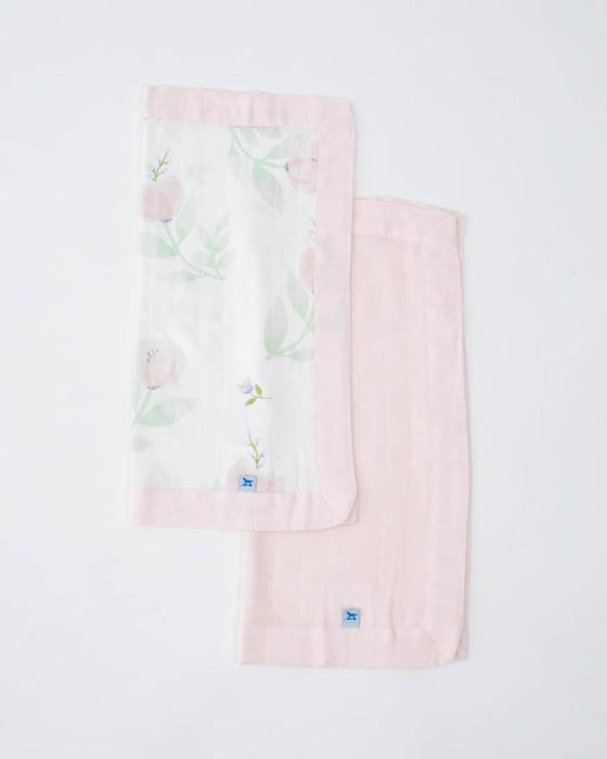 DELUXE MUSLIN SECURITY BLANKETS - PINK PEONY + BLUSH