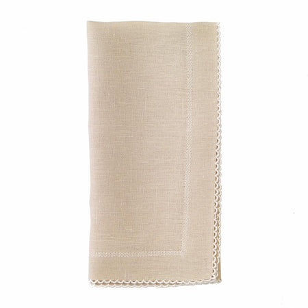 PICOT LINEN NAPKINS - Made by McNamara