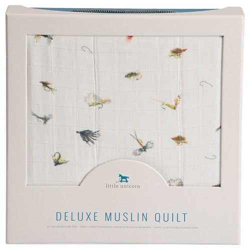 DELUXE MUSLIN QUILT - GONE FISHING - Made by McNamara