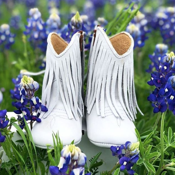 IRIS COWGIRL BOOTS - WHITE