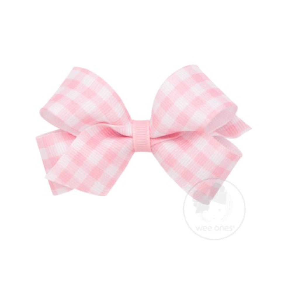 SMALL GINGHAM BOW - PINK - Made by McNamara