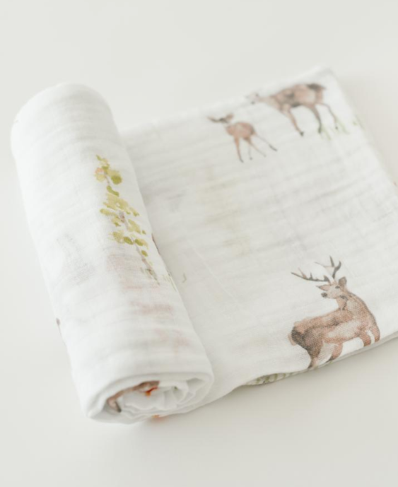 COTTON MUSLIN SWADDLE - OH DEER - Made by McNamara