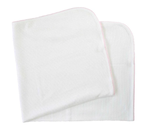 PIMA BUBBLE BABY BLANKET - PINK - Made by McNamara