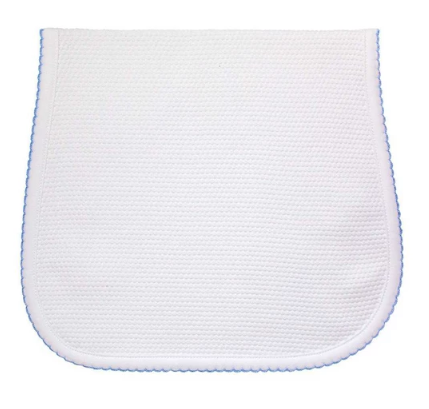 PIMA BUBBLE BURP CLOTH - BLUE - Made by McNamara