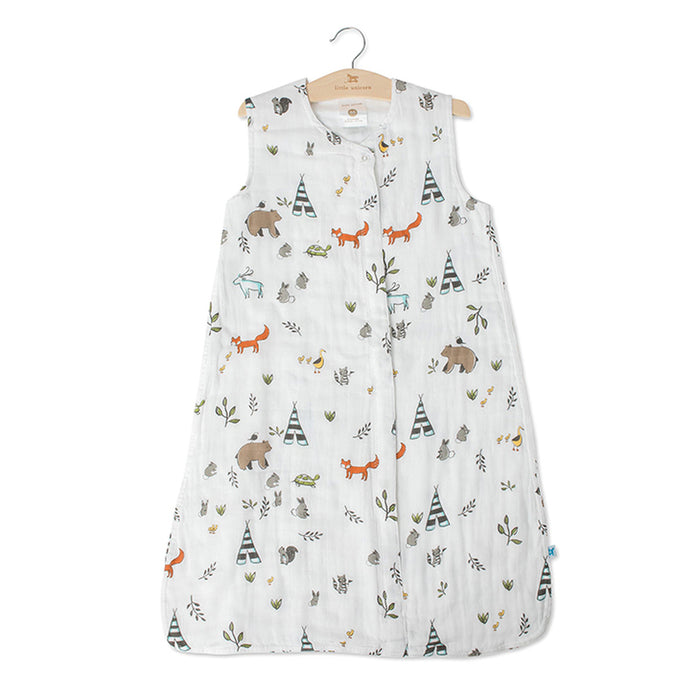 COTTON MUSLIN SLEEP SACK - FOREST FRIENDS - Made by McNamara