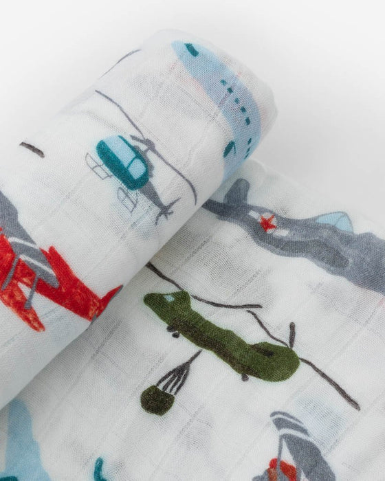 DELUXE MUSLIN SWADDLE - AIR SHOW - Made by McNamara