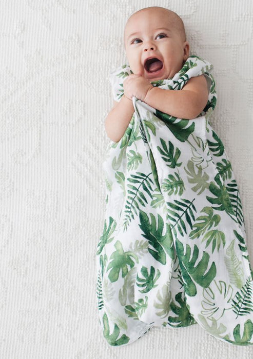 COTTON MUSLIN SLEEP SACK - TROPICAL LEAF