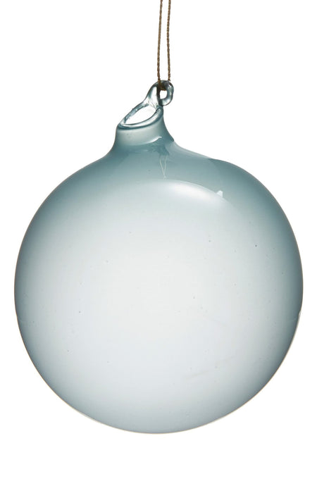 BUBBLEGUM GLASS ORNAMENTS - AQUA (80mm x 6) - Made by McNamara