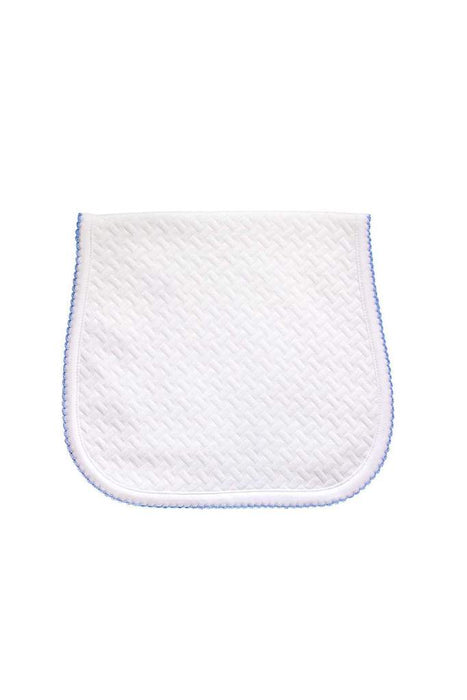PIMA BASKET WEAVE BURP CLOTH - BLUE - Made by McNamara