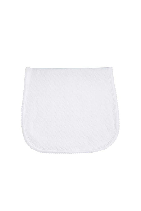 PIMA BASKET WEAVE BURP CLOTH - WHITE - Made by McNamara