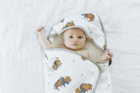 HOODED TOWEL AND WASHCLOTH SET - BISON - Made by McNamara