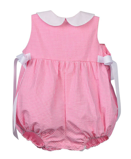PINAFORE BUBBLE - PINK SEERSUCKER - Made by McNamara