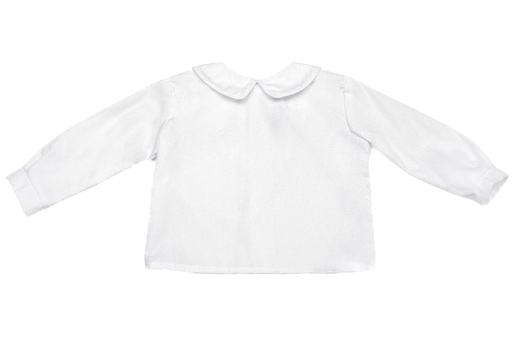 WHITE PETER PAN COLLARED SHIRT - Made by McNamara