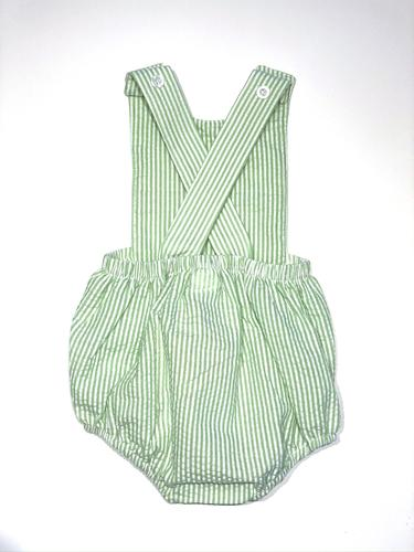 SEERSUCKER SUNSUIT - GREEN