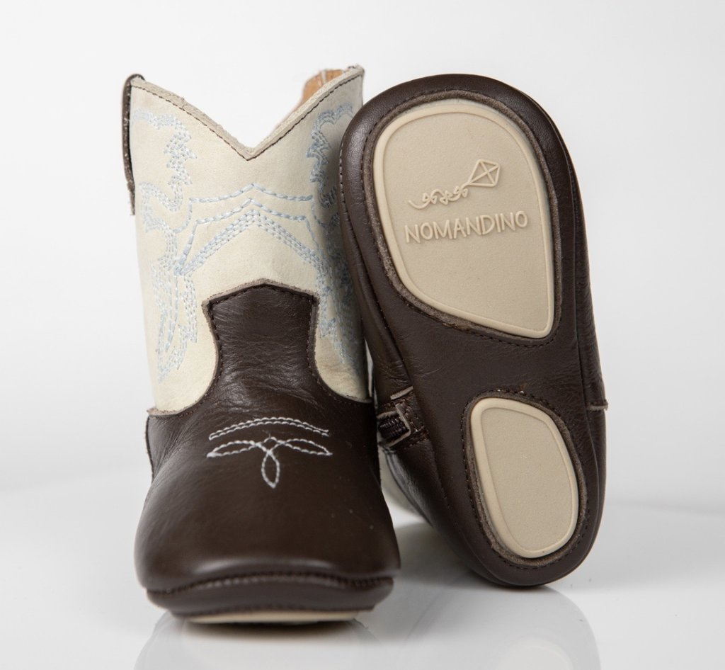FRISCO COWBOY BOOTS - CHOCOLATE + IVORY - Made by McNamara