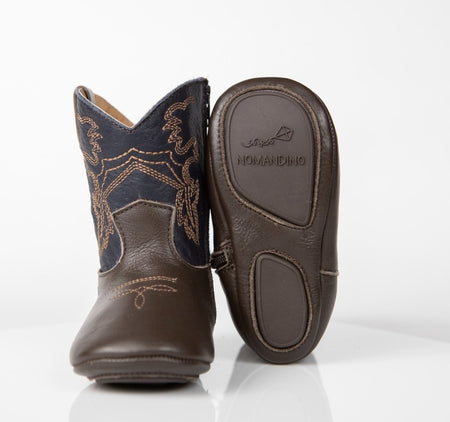FRISCO COWBOY BOOTS - CHOCOLATE + BLUE - Made by McNamara