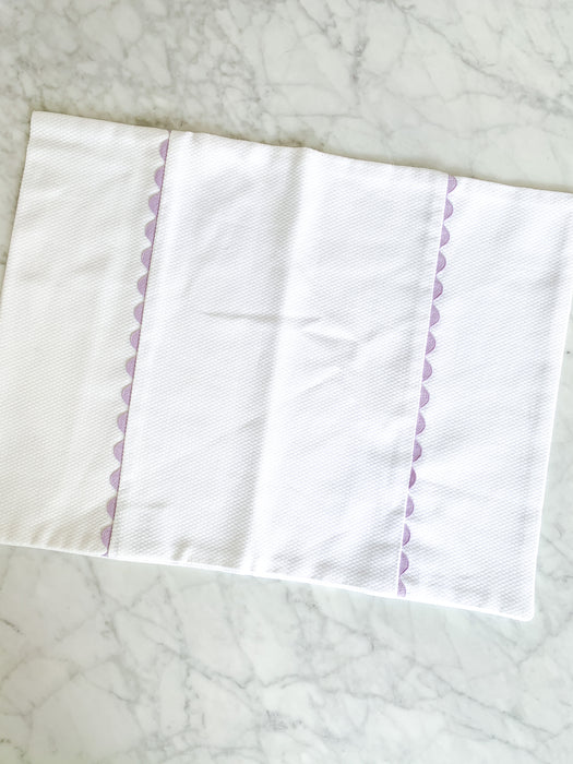 BABY PILLOWCASE WITH RIC RAC - LAVENDER - Made by McNamara