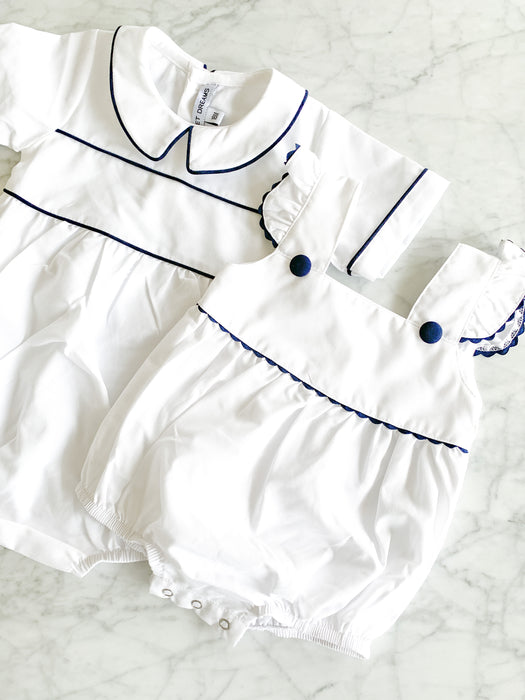 BOY BUBBLE WITH NAVY TRIM - Made by McNamara