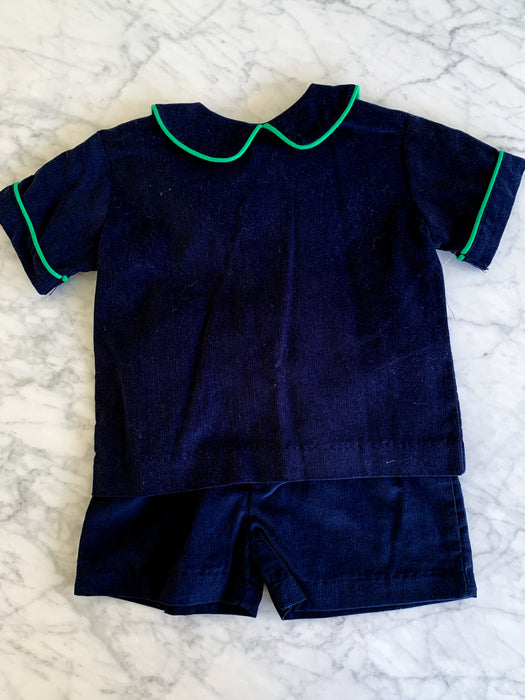 CORDUROY SHORT SET - NAVY - Made by McNamara