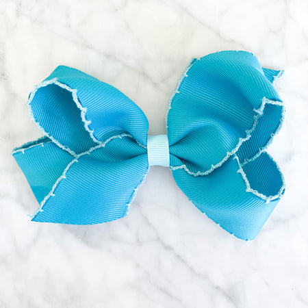 SMALL MOONSTITCH BOW - TURQUOISE - Made by McNamara
