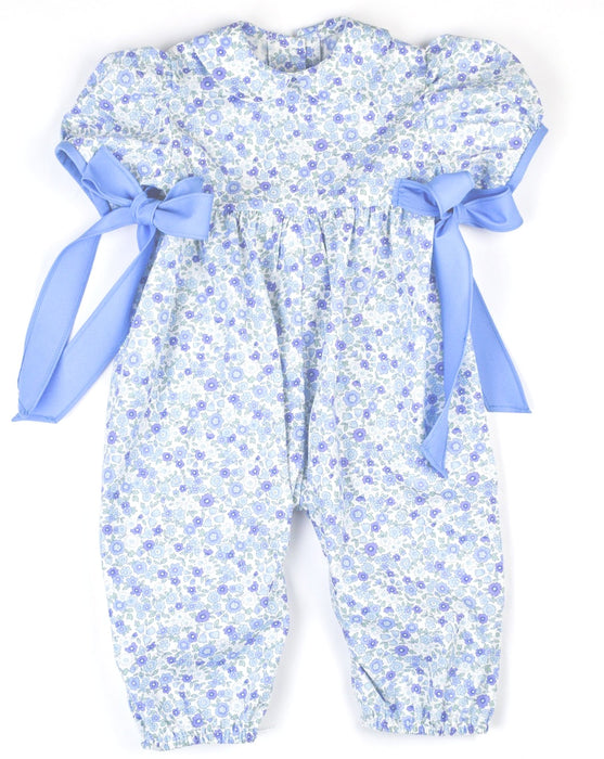 BLUE FORAL ROMPER - Made by McNamara