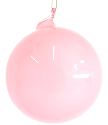 BUBBLEGUM GLASS ORNAMENTS - PINK CANDY (100 mm x 3) - Made by McNamara