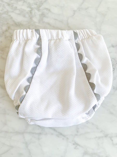 DIAPER COVER WITH RIC RAC - GREY - Made by McNamara