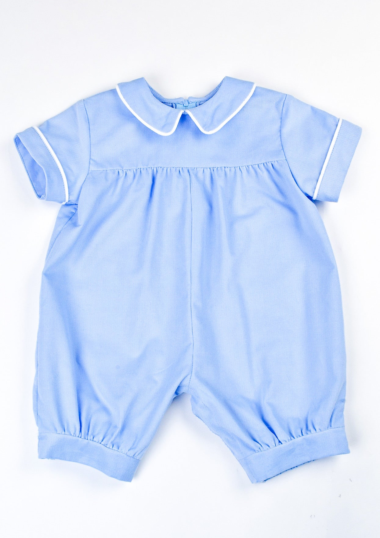 PIPED CORDUROY ROMPER - BLUE - Made by McNamara