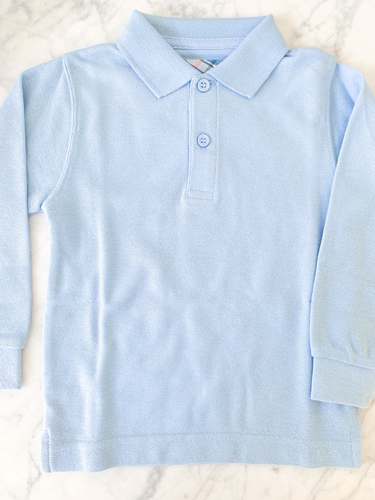 LONG SLEEVE POLO - LIGHT BLUE