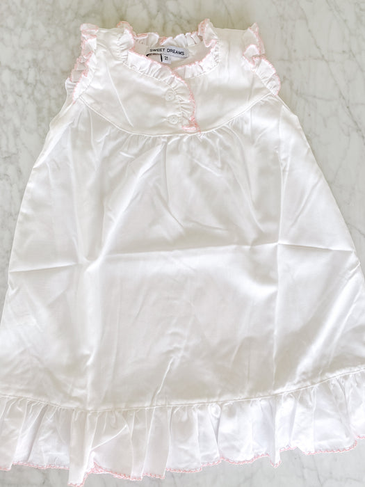 NIGHTGOWN - PINK PICOT TRIM - Made by McNamara