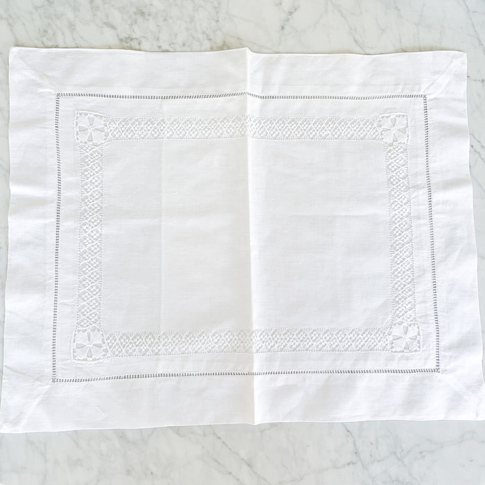 PULLED LACE LINEN PILLOW SHAM - Made by McNamara