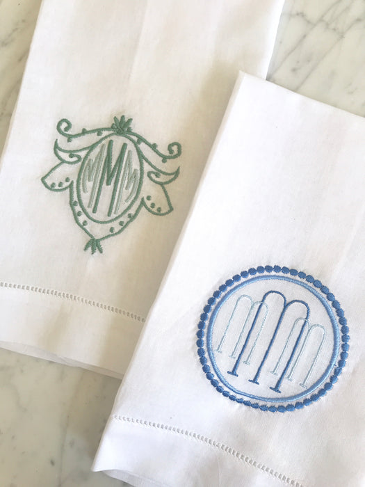 LINEN HEMSTITCH GUEST TOWEL - Made by McNamara