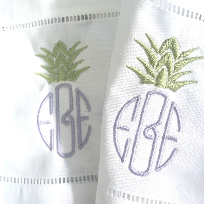 LINEN HEMSTITCH COCKTAIL NAPKIN - Made by McNamara