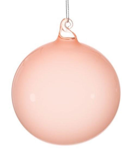 BUBBLEGUM GLASS ORNAMENTS - LIGHT CORAL (120mm) - Made by McNamara