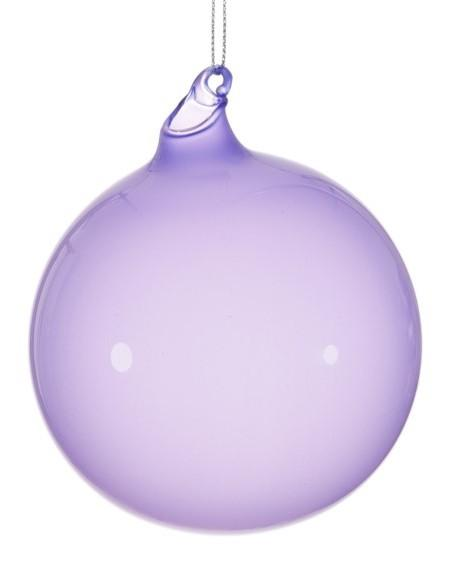 BUBBLEGUM GLASS ORNAMENTS - LAVENDER (100 mm x 3) - Made by McNamara
